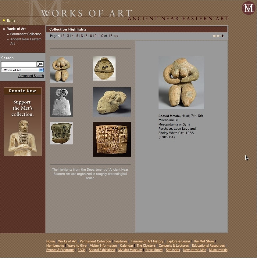 Consultant, In-House Website Ads (The Metropolitan Museum of Art)