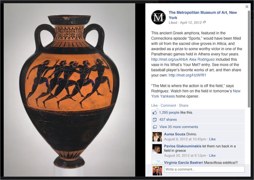 Writer, Social Media Campaigns (The Metropolitan Museum of Art)