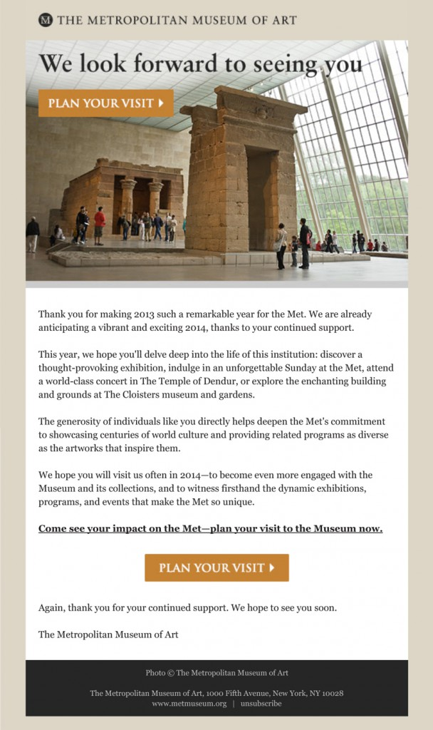 Writer/Copy Editor, E-Newsletters (The Metropolitan Museum of Art)
